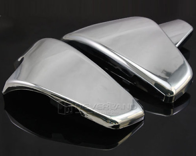 Chrome Battery Left&Right Side Covers Fit Honda Shadow VT600 VLX600 1999-2007