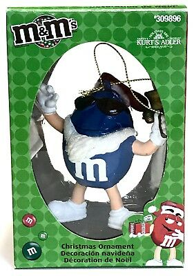 Kurt S Adler Blue M&M Christmas Tree Ornament Sunglasses 309896 holiday decor