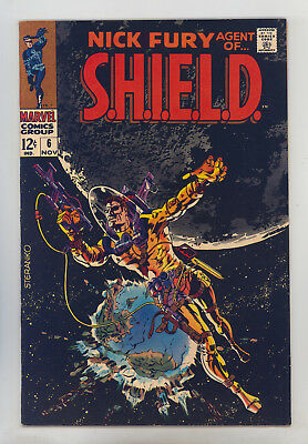 Nick Fury Agent of SHIELD #6 FN Springer, Classic Steranko Cover