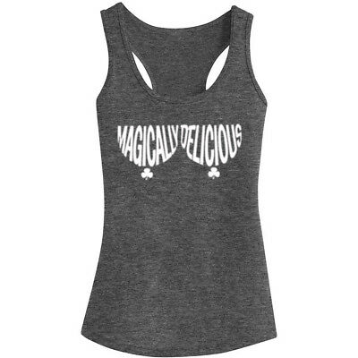 Womens Magically Delicious Tit Funny Fitness Workout Racerback Tank Tops