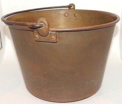 Antique 1851 H.W. Hayden's Manufactured by The Ansonia Brass Co Bucket Kettle