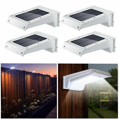 12X Solar Powered LED Garden Wall Fence Post Shed Light Outdoor Lighting Lamp
