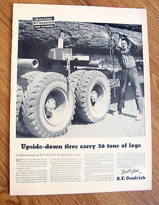 1945 B F Goodrich Tire Ad   Lot of 12 Different Ads
