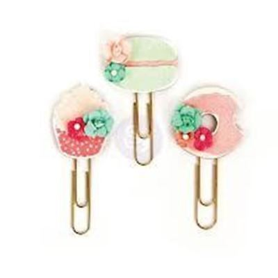 My Prima Planner Clips Macaroon and donut flowers