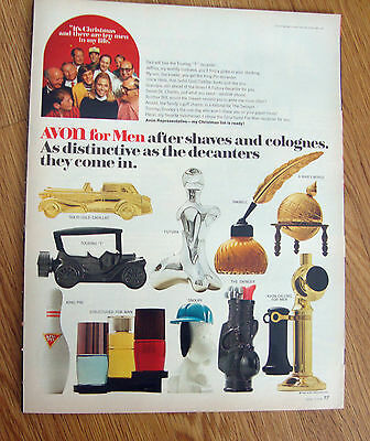 1969 Avon for Men Ad Decanters 1970 RCA Color TV Television Ad Computer Color