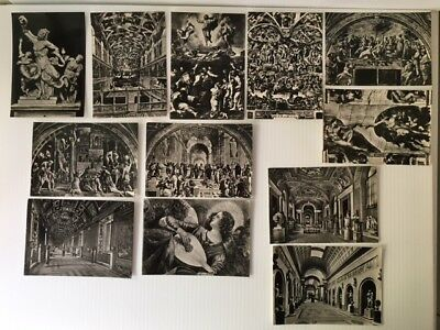 1955 Vintage Lot of 12 Postcards Vatican City Museum Gallerie Pontificie-Photo