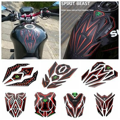 3D Motorcycle Reflective Sticker Fuel Tank Protector Pad Cover Sticker Universal