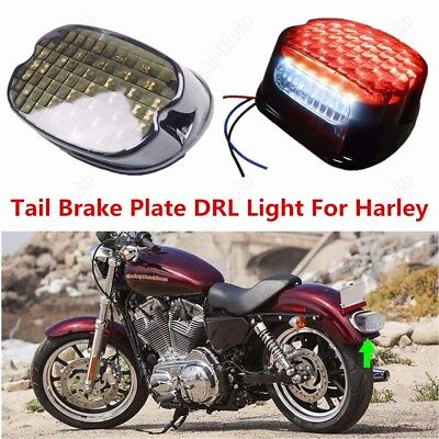 LED Tail Brake Plate DRL Light Low Profile for Harley Dyna Road King XL 833 BS