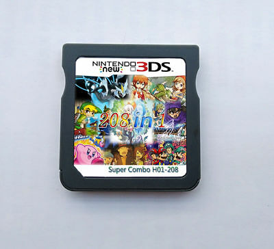 208 in 1 NDS Game Cartridge Multicart For Nintendo DS NDSL NDSi 3DS