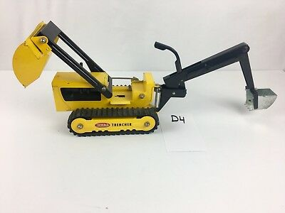 TONKA TRENCHER/BACKHOE Vintage PRESSED STEEL TOY Collection For Man Cave.D4