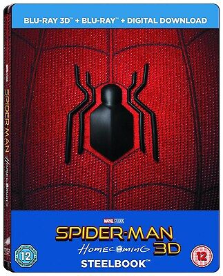 Spider-Man: Homecoming (Limited Edition 3D Steelbook +Comic) [Blu-Ray]