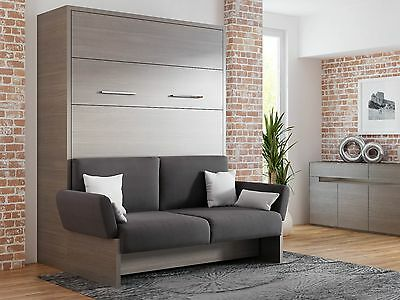 schrankbett wandbett klappbett sofa wbs 1 soft 140 x 200 cm anthrazit wei eur. Black Bedroom Furniture Sets. Home Design Ideas