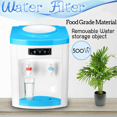 220V Portable Water Filter Machine Warm Water Cooler Dispenser Table Top New
