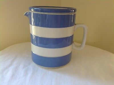Cornish Ware vintage Blue and White Jug with lid.