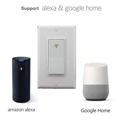 Smart WIFI Light Wall Switch Works For Alexa Google Home IFTTT Safety life App