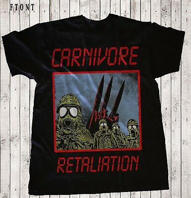 CARNIVORE-Retaliation- Thrash metal-Type O Negative,BLACK T-shirt Sizes:S to 7XL