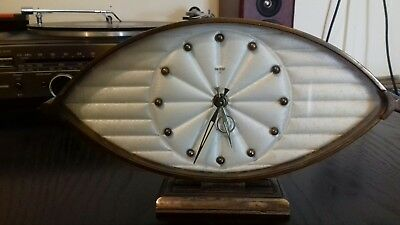 Antique vintage smiths 8 day floating balance bronze or brass mantel clock rare