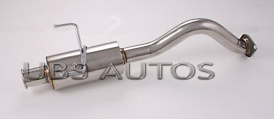 Stainless Steel Exhaust Back Box Fits Honda Civic 90-00 Coupe SSN1 EJ9 EM1