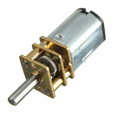 DC 6V Micro Speed Reduction Gear Motor with Metal Gearbox Wheel Shaft  30RPM PM