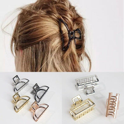 Simple Women's Hairclips Alloy Colorful Bathing Hair Claw Clips Hair Accessories