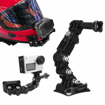 Motorcycle Full Face Helmet Front Chin Mount for Gopro Hero 6 5 4 Action Camera