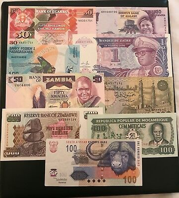 Lot 9 Banknotes From AFRICA