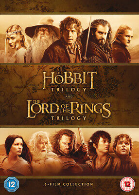 The Hobbit Trilogy/The Lord of the Rings Trilogy DVD (2016) Martin Freeman
