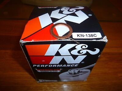 K&N 138C chrome plated high performance m/cycle oil filter+FREE shipping+washer!