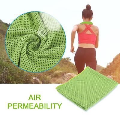 1PCS Instant Cooling Towel ICE Cold Golf Cycling Jogging Gym Sports Outdoor New~