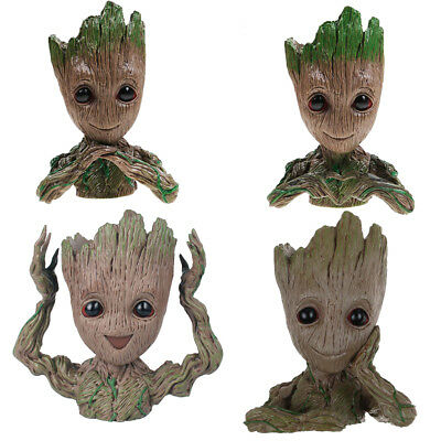 2018 14 /16cm Guardians Of The Galaxy Baby Groot Figur Blumentopf Stil Stift Pot