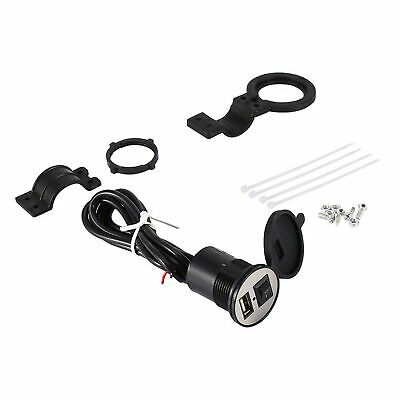 1.2m USB Motorcycle Mobile Phone Power Supply Charger Waterproof Port Socket 12V