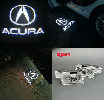 2×For ACURA TLX RLX MDX TL ZDX LED Laser Door Logo Ghost Shadow Projector Lights