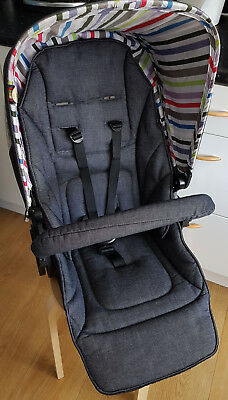 Mamas and Papas Sola Seat Unit with Bumper Bar Grey Denim Urbo M&P