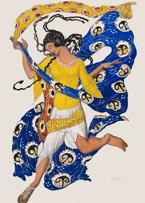 Two Boeotians in Narcissus Costume Design by LEON BAKST Vintage Ballet Poster