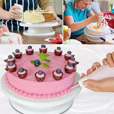 Cake Stand Icing Decorating Rotating Display Wedding Birthday Party Tableware