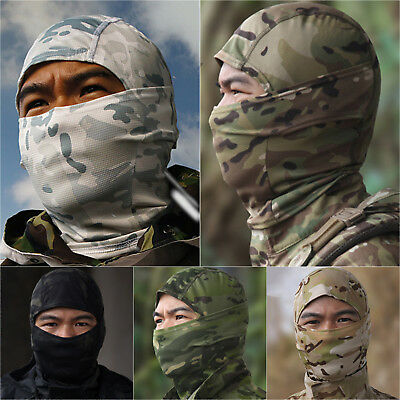 Camo Military Balaclava Motorcycle Cycling Face Mask Neck Warmer Helmet Headwear