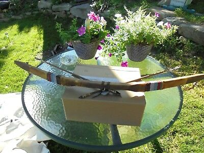 Indian Artifact Bow And Arrows Hand Made Native American Stick Bow & Arrows