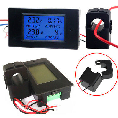 DC 6.5~99.99V AC 80~260V 0-100A LCD Digital Display Volt Amp Power Watt Meter