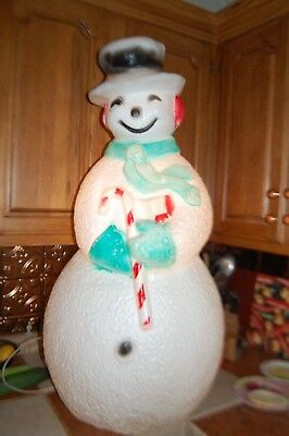 "Vintage Christmas Snowman Blow Mold - Union Products 41"" ISSUES"