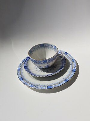 Porzellan Gedeck Set- China Blau - Bavaria blue Tasse,Unterteller,Teller