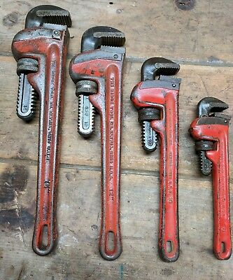 4 Vintage Rigid Pipe Wrenches