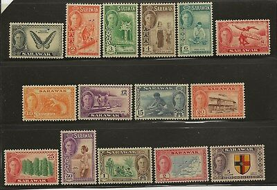 Sarawak  Sg 171/85  1950 Gvi Set Of 15   Fine Mounted Mint