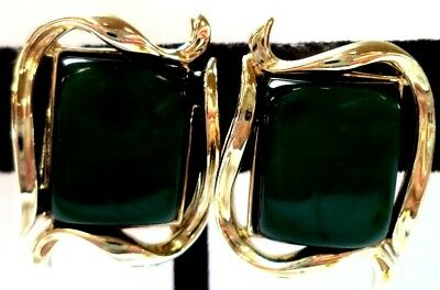 """Stunning Vintage Estate Signed Coro Thermoset 5/8"""" Clip Earrings!!! 9877X"""