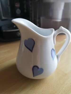 D Porthault Royale Limoges Blue Hearts Milk Jug Creamer
