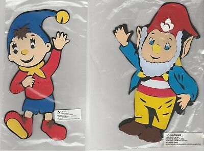 "Cartoon Foam Wall Decorations Noddy & Big Ears Each Approx 10""x 6"" 25cm x 15cm"