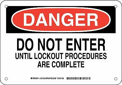 """Lockout Tagout, Danger, Plastic, 7"""" x 10"""", With Mounting Holes, not reflective"""
