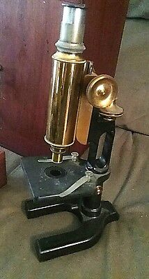"FANTASTIC: Antique 1920'S "" Spencer / Buffalo "" Brass  Microscope in the Box"