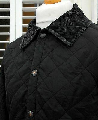 Barbour Black Diamond Quilted Liddesdale Jacket - XS/S/M - Ska Mod Scooter Skins