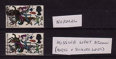 GB 1966 4d Battle of Hastings missing colour with normal. GB error for sale