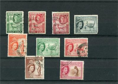 Somaliland Protectorate.9 --G6/qe2 Used Stamps On Stockcard